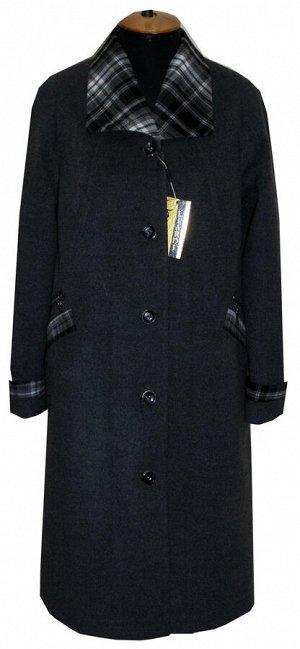 Женское пальто с отделкой Код: Меланж 09