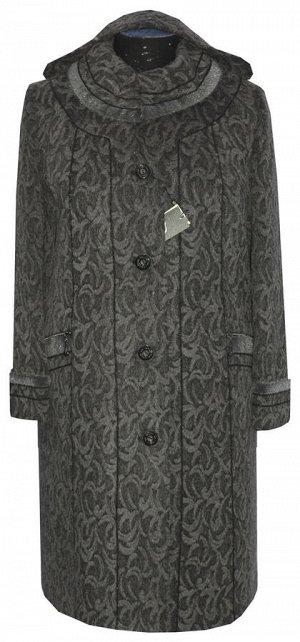 Женское зимнее пальто с капюшоном Код: 111 жакард