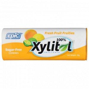 Epic Dental, 100% Xylitol Sweetened, Fresh Fruit Fruities, Candies, Sugar-Free, 30 g