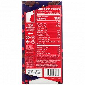 Endangered Species Chocolate, Плитка из терпкой малины и темного шоколада, 85 г (3 унции)
