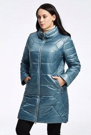 Классное пальто на осень 48/50 р. Голубой жемчуг , красота!
