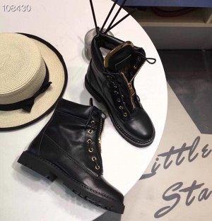 Крутые кожаные ботинки, по факту 37 размер
