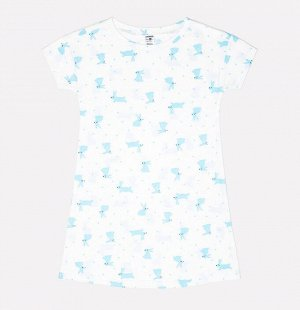 Сорочка для девочки Crockid К 1145 голубые зайки на белом
