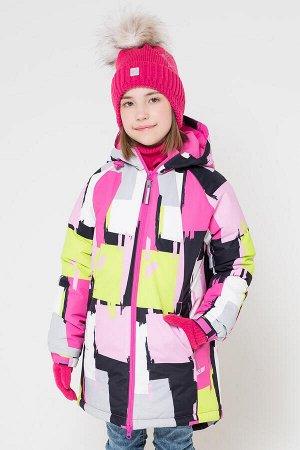 38038/1 пальто/яркие краски, розовый