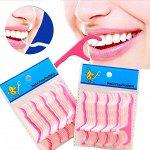 Зубочистки с зубной нитью 20шт