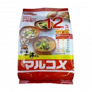 Суп-мисо быстрого приготовления ассорти красное, 12 пакетиков, 222г