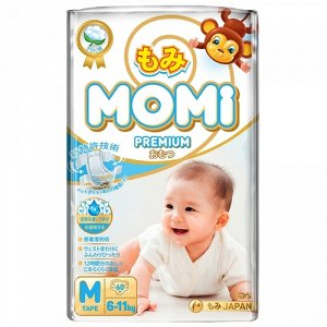 MOMI Premium   подгузники M ( 6-11 кг), 60 шт.