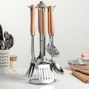Набор кухонных принадлежностей «Дорадо», 6 предметов, на подставке