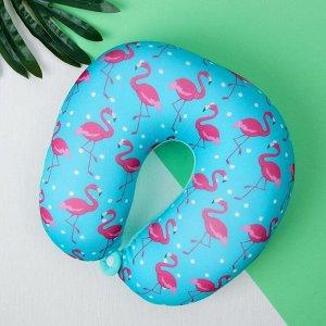 Подголовник-антистресс «Фламинго» , цвет голубой