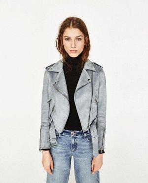 Замшевая PU куртка