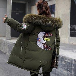 Куртка на синтепоне. Искусственный мех