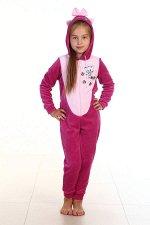 Пижама подростковая Кигуруми Котик 12-04б (сирень)