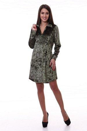Платье женское 4-32е (тёмно-зелёный)