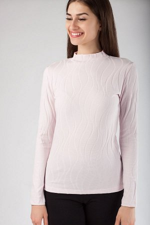 Водолазка нежно розового цвета 44р