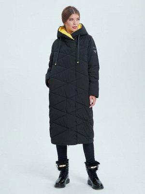 Пальто черный/желтый S-XXL