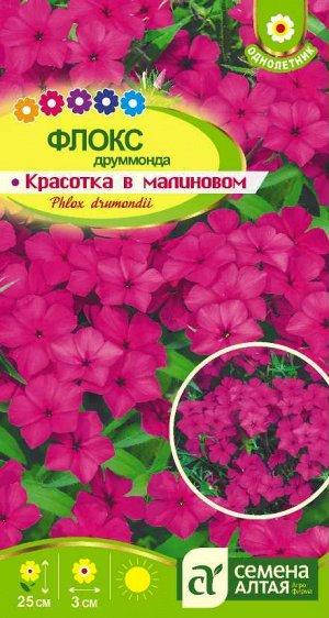 Цветы Флокс Красотка в малиновом Друммонда/Сем Алт/цп 0,1 гр.