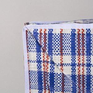 Сумка хозяйственная, цвет синий/белый
