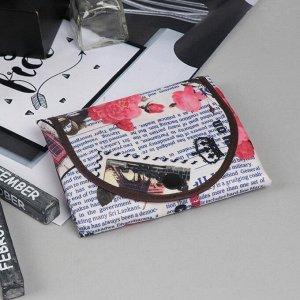 Сумка хозяйственная «Газета», трансформируется в кошелёк, водонепроницаемая, цвет бежевый