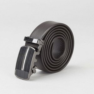 Ремень мужской, гладкий, пряжка - автомат тёмный металл, ширина - 3 см, цвет кофе 2992839