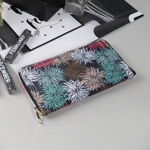 Сумка хозяйственная «Цветы», трансформируется в кошелёк, водонепроницаемая, цвет чёрный