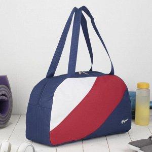 Сумка спортивная, отдел на молнии, наружный карман, цвет синий/красный