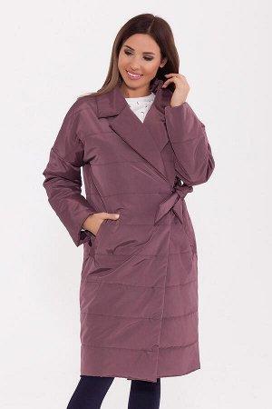 #74752 Пальто Грязно-розовый