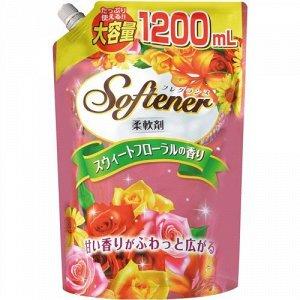 """828162 """"Nihon Detergent"""" """"Sweet Floral"""" Кондиционер д/белья со сладк. цветочн. ароматом 1200 мл."""