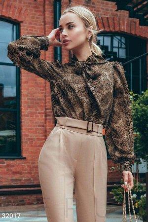 Шифоновая блуза в леопардовый принт