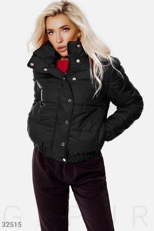 Черная теплая куртка