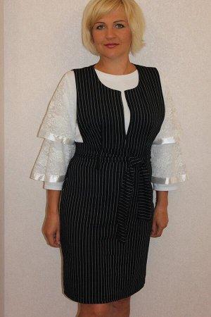Сарафан женский пэ80% хб20% ткань футер 2-х нитка Обратите внимание: сарафан на стандартную фигуру.  Модель, приталенная с поясом. Маломерит.
