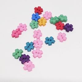 Мини пуговки для кукол. Цветочек Mix.