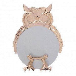 """Зеркало""""Сова""""., 10,2 х 10,2 см"""