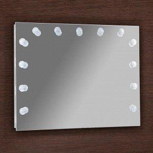 Зеркало, гримёрное, настенное, 13 лампочек, 90х70 см