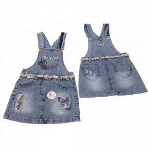 5307 Сарафан джинсовый для девочек Overdo