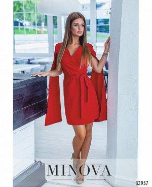 Платье №1258-красный