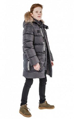 Серый Мембранна ткань, Teflon TPU 3k/3k, пэ/флис, Эко-пух                    Пальто :  -265g