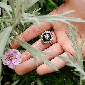 "Кольцо-спиннер ""Стиль"", серебряный, металл, D-16 мм"