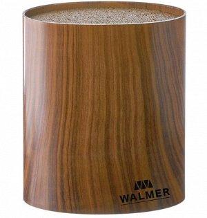 """""""Wood"""" Подставка для ножей 16х7х16см, овальная, цв.темное дерево W08002203"""