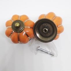 Ручка Оранжевый. Цв.Бронза.