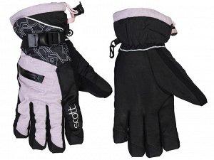 Женские горнолыжные перчатки Scott – трехслойная мембрана, регулировка объема, фирменный дизайн №343