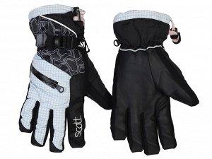 Крутые горнолыжные перчатки Scott – не продуваются, не мокнут, запястье с фиксатором №342