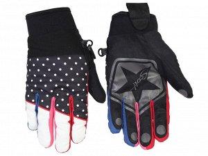 Теплые женские перчатки Scott – защита от холода/ветра/влаги + стиль №348