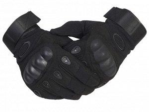 Тактические перчатки с кевларом - новая модель черных тактических перчаток с усовершенствованными накладками и большим количеством кевларовой нити№4