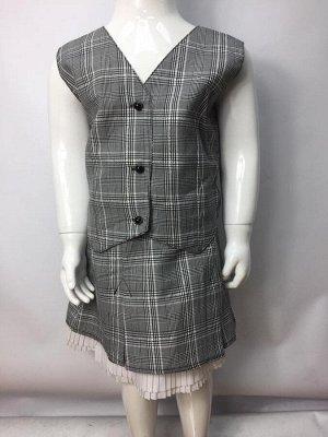Комплект (юбка+жилет) на подростка до 160см