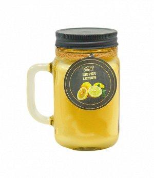 """Mason jar"" Свеча ""Лимон Мейера"" 6,5х6,8х13,3см FP-JAR12YL ВЭД"
