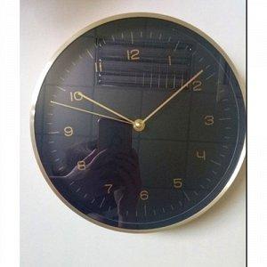 "Часы настенные ""Черные"" 24,8х4,2см 79647"