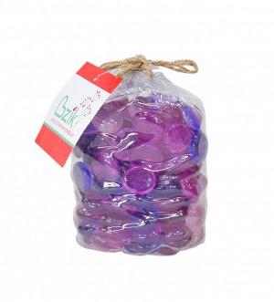 """Marbles"" Набор декоративных камней 17-19мм, цв.розовый, фиолетовый, 650гр PM404-1719-F019 ВЭД"