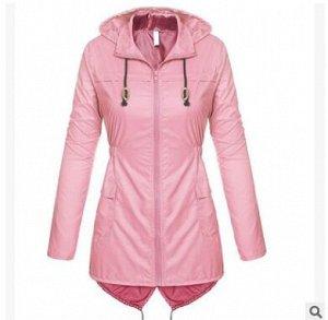 Ветровка с капюшоном,розовый
