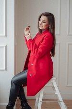 Пальто 20650  (красный)
