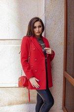 Пальто женское демисезонное 21900  (красный)